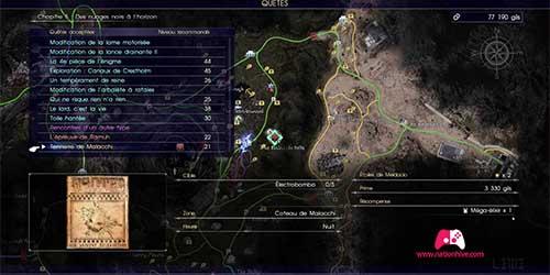 Carte du contrat de chasse Tonnerre de Malacchi