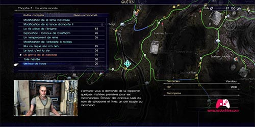 Carte de la mission Un tour de force