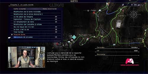 Carte de la mission Une preuve de prouesse