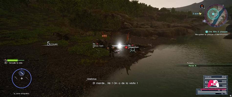 Combat avec les Démons marin