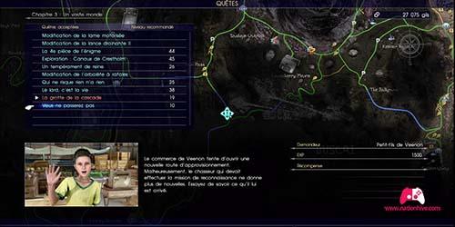 Carte pour trouver le chasseur