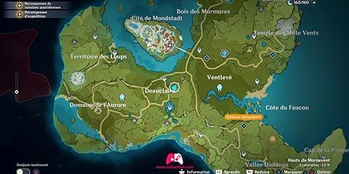 Carte du 20e