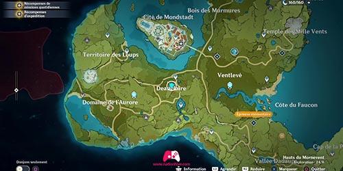 Carte du 21e