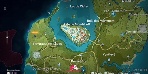 Carte du panorama de la Bibliothèque, Ordre de Favonius