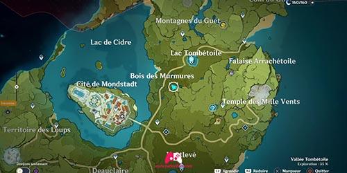 Carte du panorama de la Cité du vent