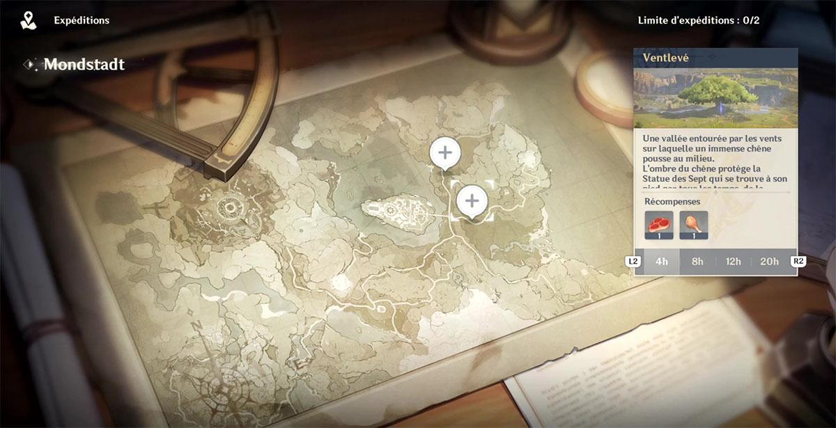 Guide et soluce des expéditions dans Genshin Impact