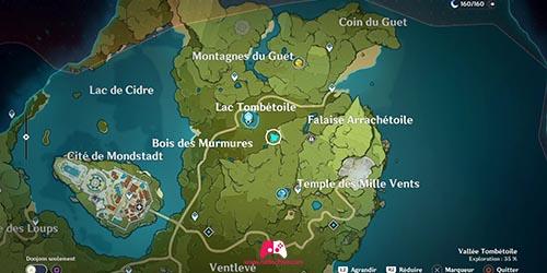 Carte du anorama du Marais des gardiens célestes