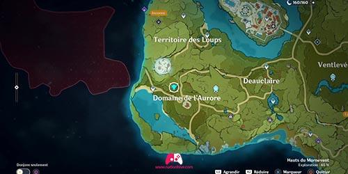 Carte du panorama du Manoir de l'aube