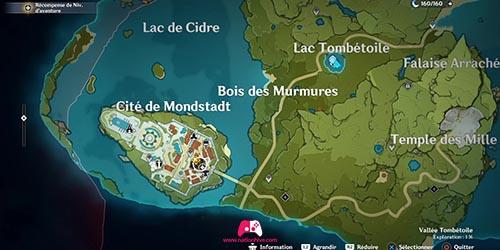 Carte de Mondstadt
