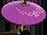 Parasol en papier violet