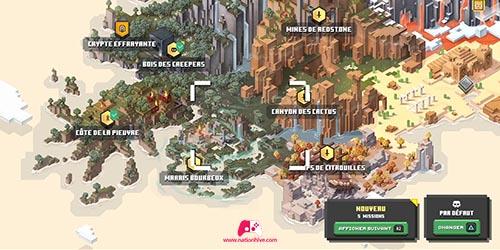Carte des niveau