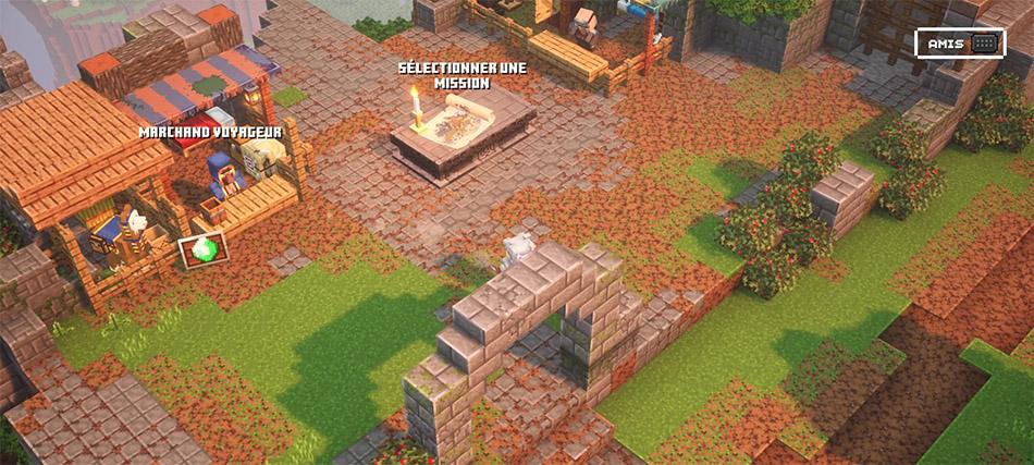 Le camp dans Minecraft Dungeons