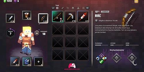 Selection de l'arme
