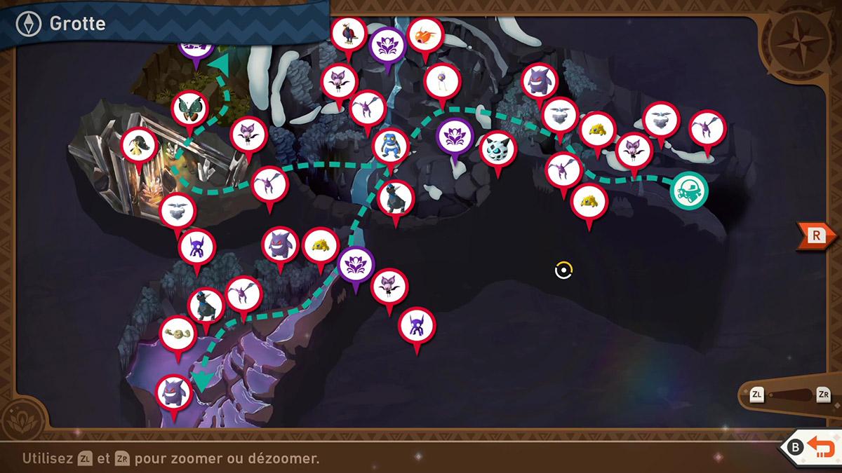 Soluce de la Grotte lointaine dans New Pokémon Snap