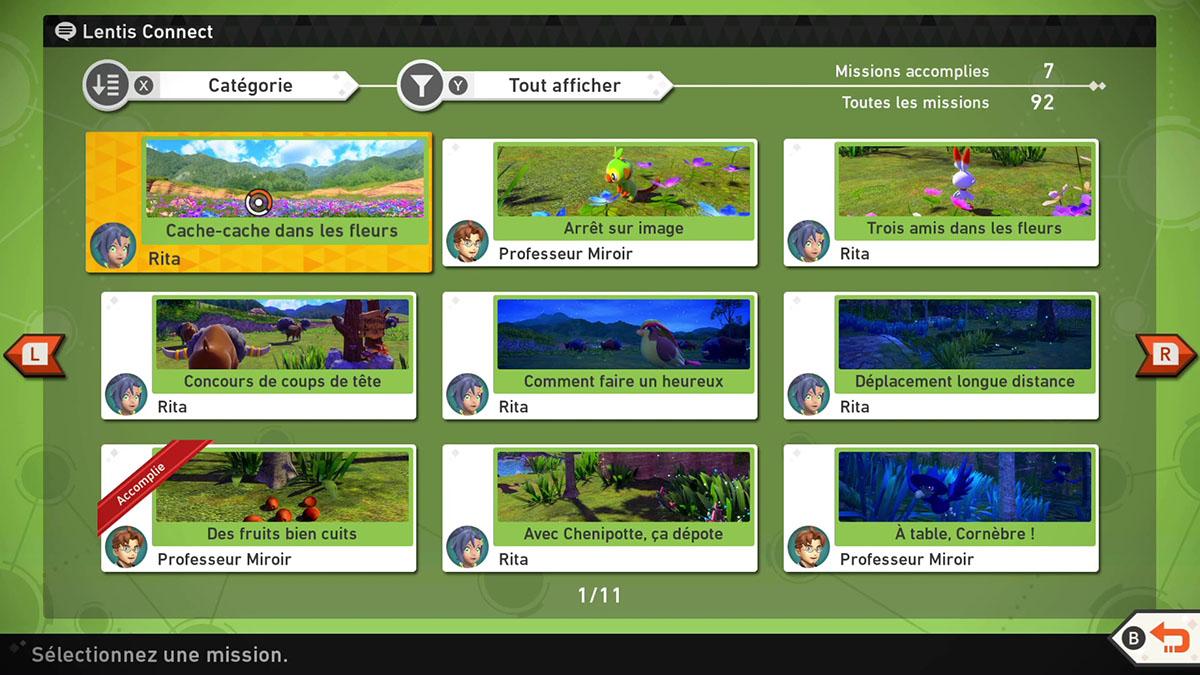 Guides de toutes les missions de New Pokémon Snap