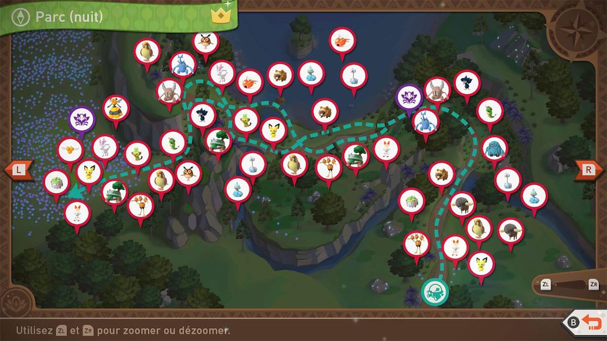 Soluce du Parc Naturel d'Anthos de Nuit dans New Pokémon Snap