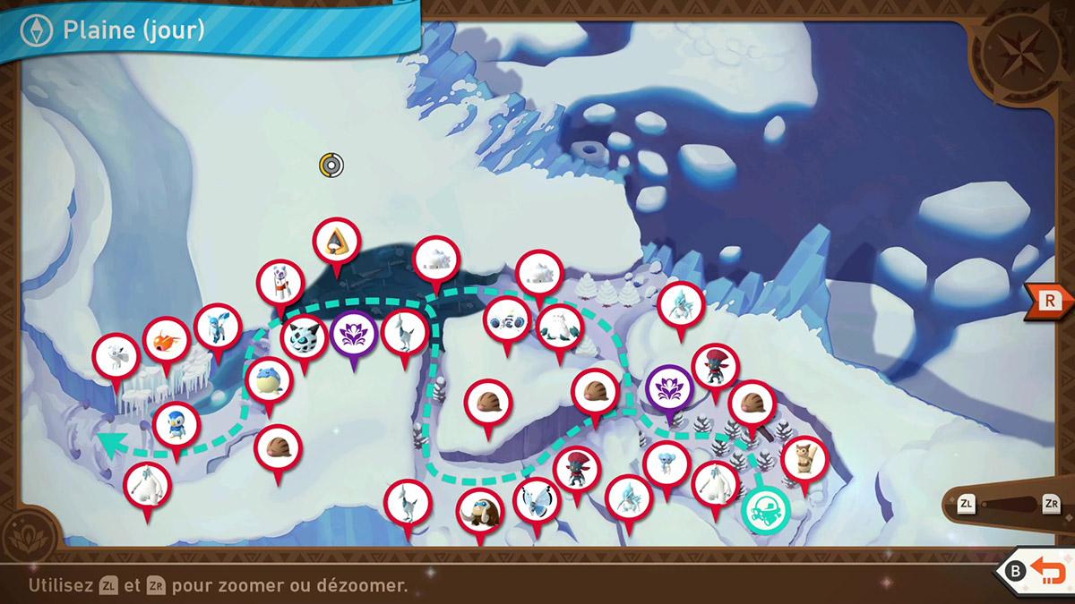 Soluce de la Plaine Frisquette de jour dans New Pokémon Snap