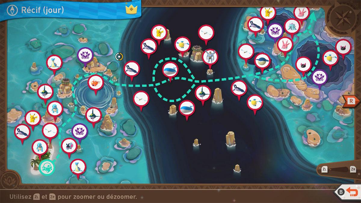 Soluce du Récif de Kopadia de Jour dans New Pokémon Snap