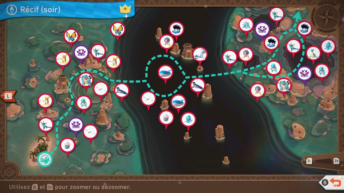 Soluce du Récif de Kopadia de Soir dans New Pokémon Snap