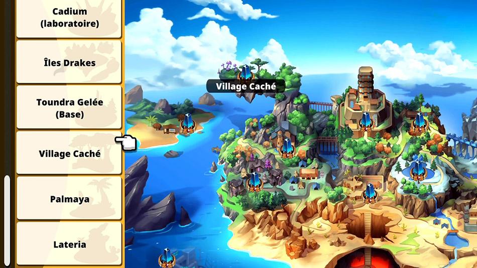 Carte du Village caché