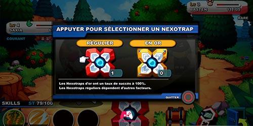 Choix des Nexotraps