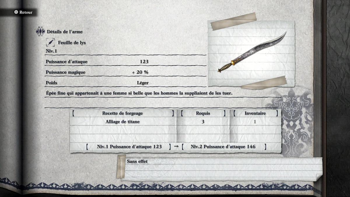 Obtenir l'arme Feuille de Lys dans NieR Replicant