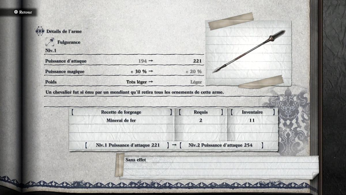 Arme Fulgurance de NieR Replicant