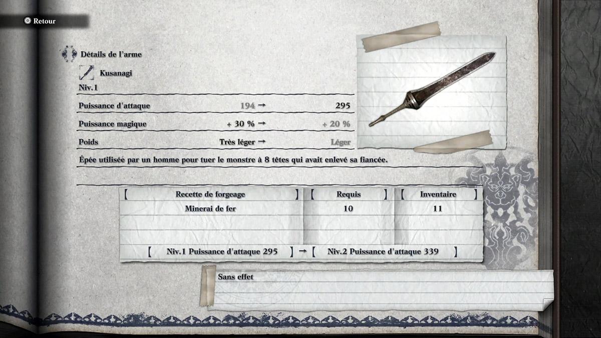 Arme Kusanagi de NieR Replicant