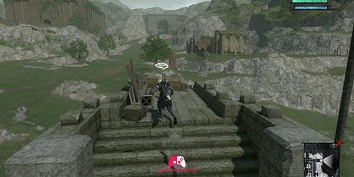 Emplacement du garçon de la muraille