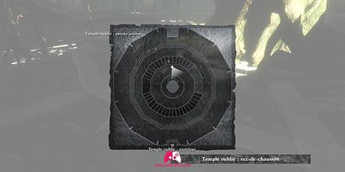 Carte du temple oublié