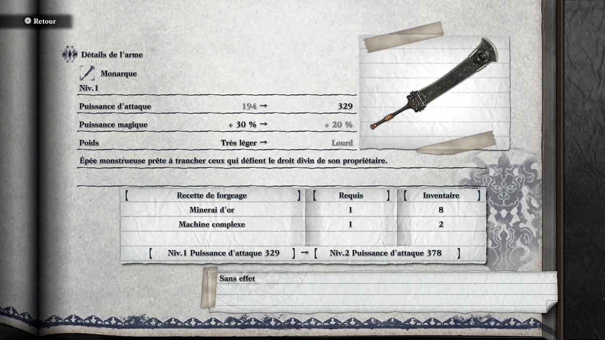 Arme Monarque de NieR Replicant
