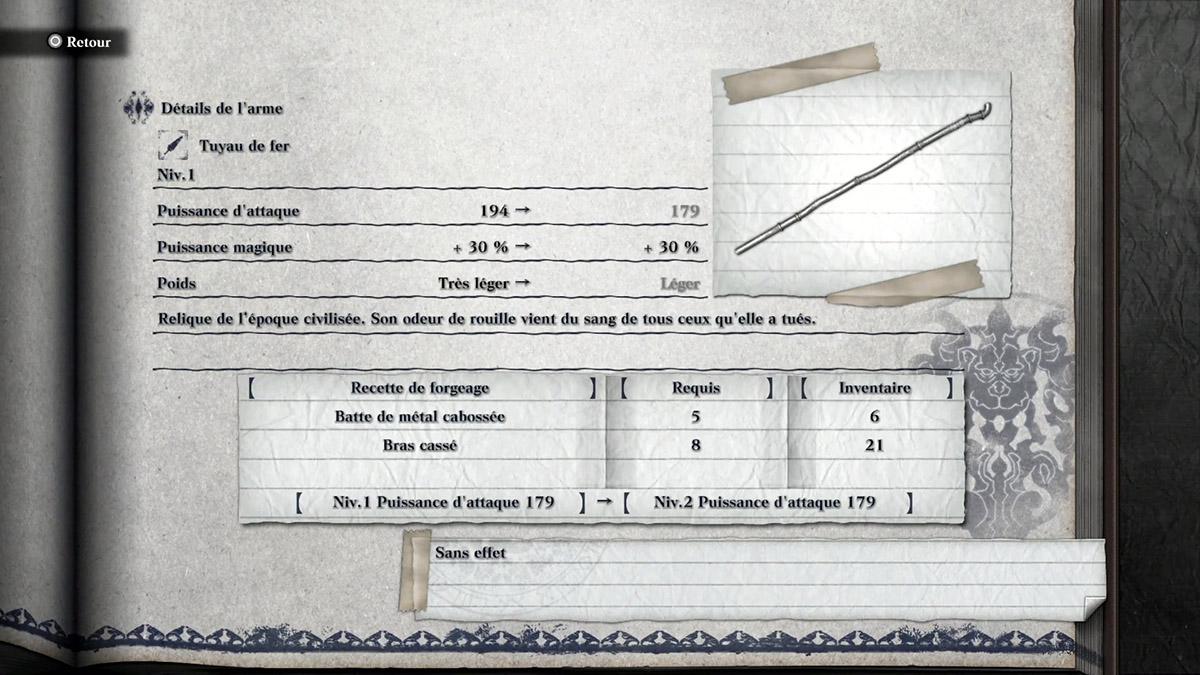Arme Tuyau de fer dans NieR Replicant