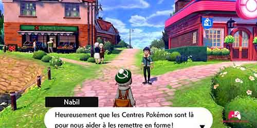 Rejoindre Nabil devant le centre Pokémon