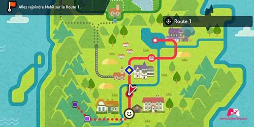 Carte de la route 1
