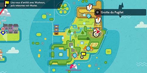 Carte de la Grotte du Pugilat