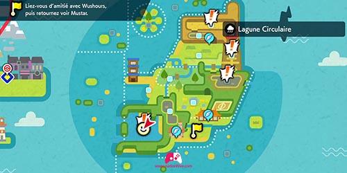 Carte de la Lagune Circulaire