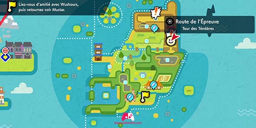 Carte de la Route de l'Épreuve