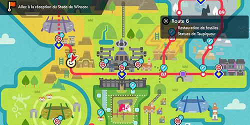 Carte Route 6