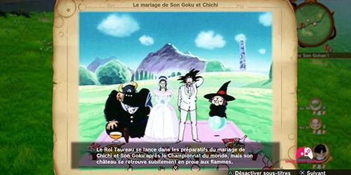 Souvenir Le mariage de Son Goku et Chichi