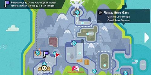 Carte du Grand Antre Dynamax