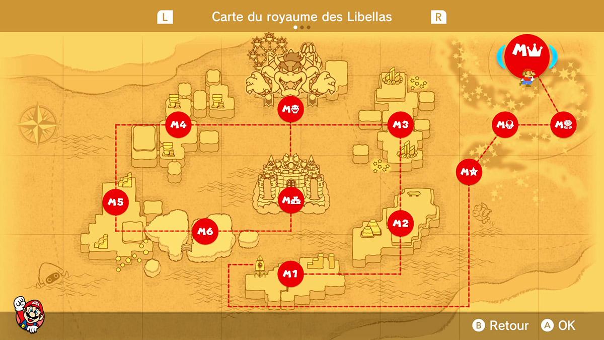 Carte du royaume de Super Mario 3D World