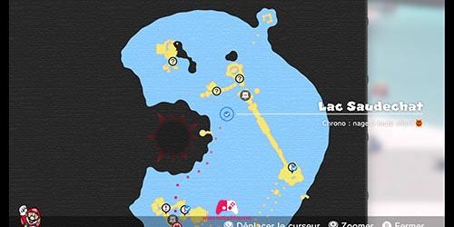Carte du défi Chrono : nage à toute allure