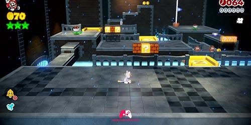 Mario Chat Blanc dans Super Mario 3D World