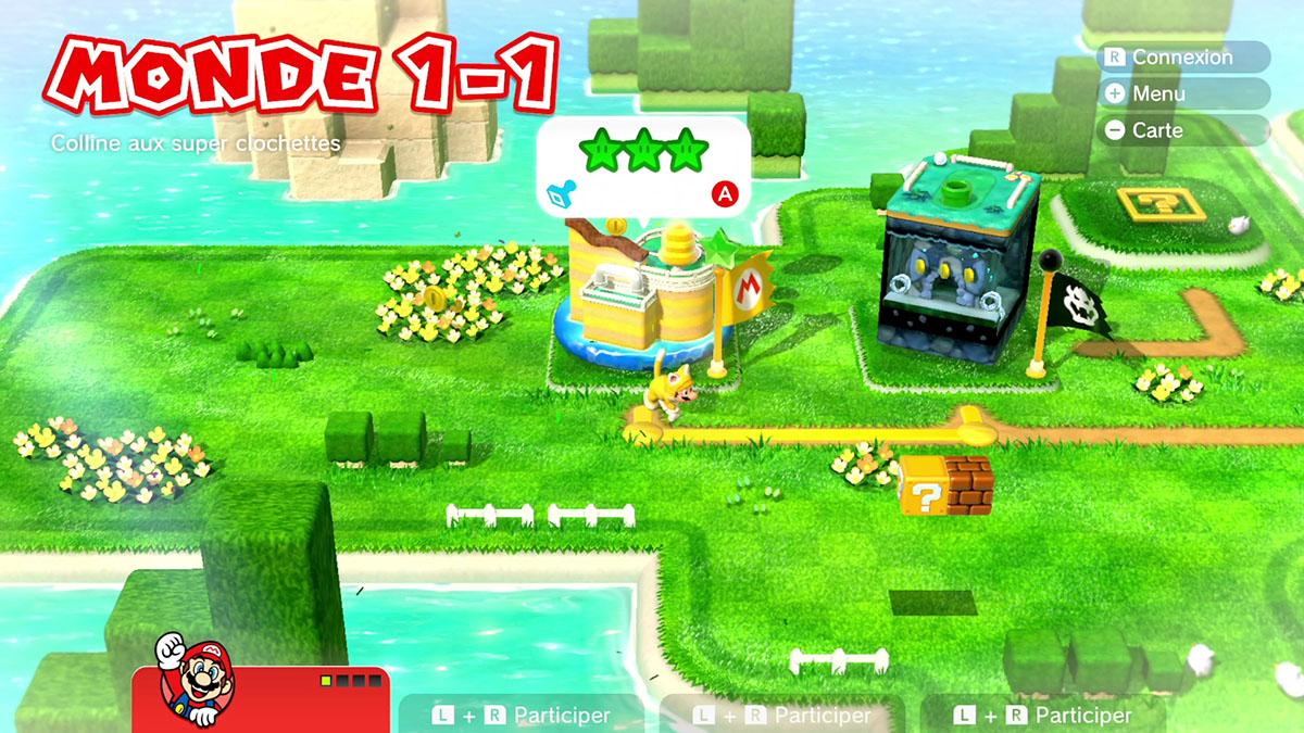 Soluce du Monde 1-1 : Colline aux super clochettes de Super Mario 3D World