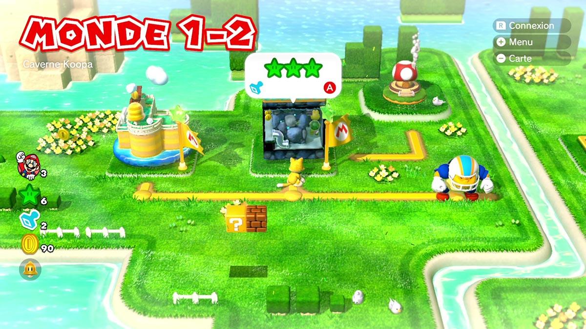 Soluce du Monde 1-2 : Caverne Koopa de Super Mario 3D World