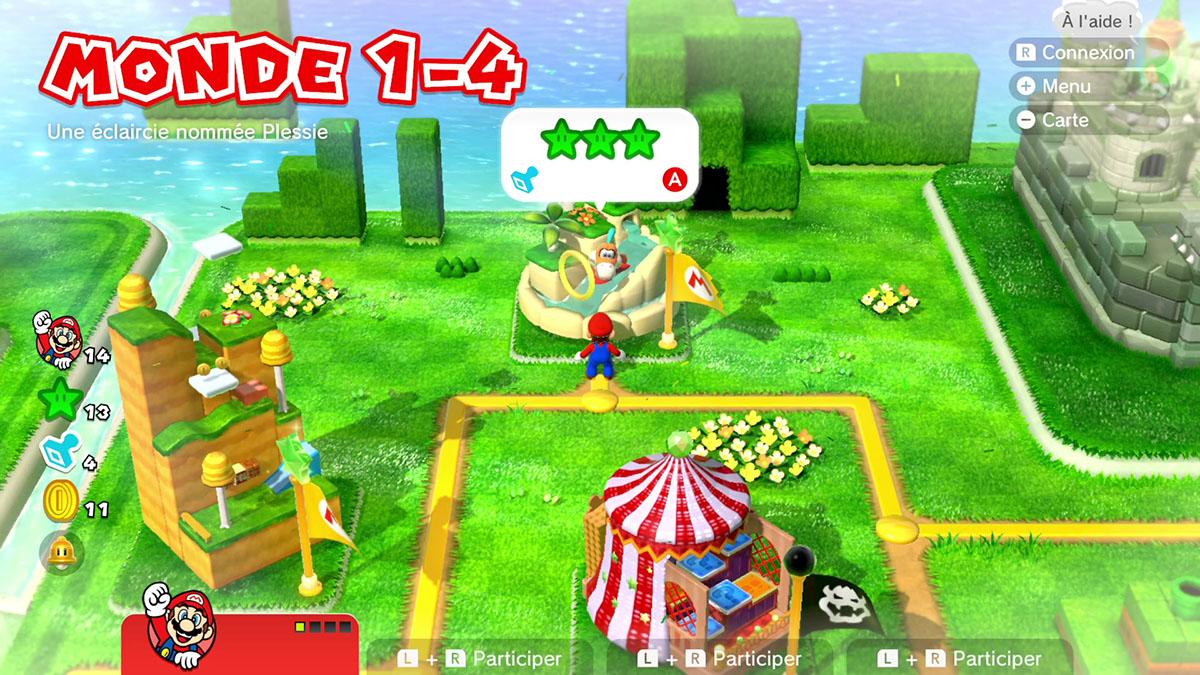 Soluce du Monde 1-4 : Une éclaircie nommée Plessie de Super Mario 3D World