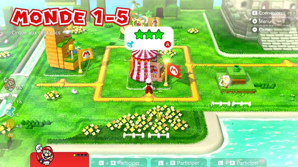 Soluce du Monde 1-5 : Cirque aux cent clics de Super Mario 3D World
