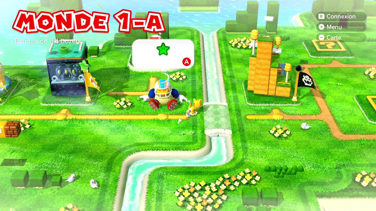 Soluce du Monde 1-A : Barrage de Bill Dozers de Super Mario 3D World