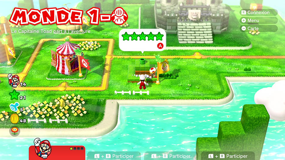 Soluce du Monde 1-Toad : Le capitaine Toad part à l'aventure de Super Mario 3D World