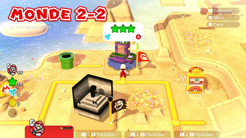 Soluce du Monde 2-2 : La montagne à tiroirs de Super Mario 3D World